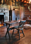 kitchen table and hearth